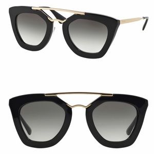 Prada Cat Eye Catwalk Sunglasses 49mm